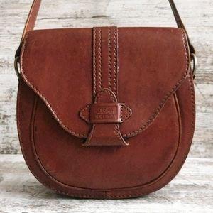 Vintage Ape Regina Brown Leather Saddle Bag